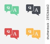 question answer icon. q a sign... | Shutterstock .eps vector #255266662