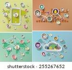 social media network concept ... | Shutterstock .eps vector #255267652
