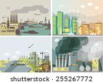 Industrial Landscape Set. ...
