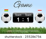 soccer or football score.... | Shutterstock .eps vector #255286756