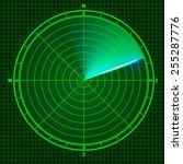fly radar. vector illustration   Shutterstock .eps vector #255287776