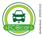 eco car design  vector...   Shutterstock .eps vector #255291112