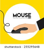mouse computer design  vector...