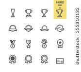 set of award icon. vector... | Shutterstock .eps vector #255310132
