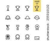 set of award icon. vector...