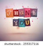 thank you message  eps 10 | Shutterstock .eps vector #255317116