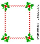 retro striped frame with red... | Shutterstock .eps vector #255320272