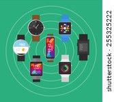 smart watches wearable | Shutterstock .eps vector #255325222