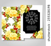 wedding invitation cards with... | Shutterstock .eps vector #255328198