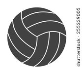 volley ball vector image to be... | Shutterstock .eps vector #255329005