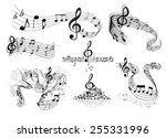 abstract sheet music design...