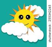 vector illustration of a happy... | Shutterstock .eps vector #255342265