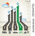 design road   street with... | Shutterstock .eps vector #255344752