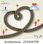design vector road in form of... | Shutterstock .eps vector #255344758