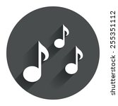 music notes sign icon. musical...