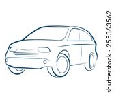 car illustration vector | Shutterstock .eps vector #255363562