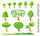 trees collections set design ... | Shutterstock .eps vector #255367126