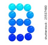blue letter b composed of solid ...