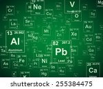periodic table of the elements. ... | Shutterstock .eps vector #255384475