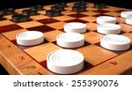 Checkers Game Wooden Board ...