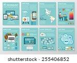 big set of infographics... | Shutterstock .eps vector #255406852