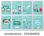 big set of infographics... | Shutterstock .eps vector #255406855