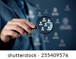 marketing customer target... | Shutterstock . vector #255409576