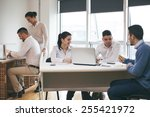 group of business people in... | Shutterstock . vector #255421972