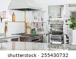 pasta machine by stove in... | Shutterstock . vector #255430732