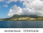Veterinary and Medical Schools on the south coast of St. Kitts - stock photo