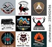 camping logotype. outdoor... | Shutterstock .eps vector #255432436