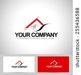 house logo design. architecture ... | Shutterstock .eps vector #255436588