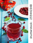 fresh cranberry juice in a... | Shutterstock . vector #255442348