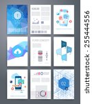 templates. vector flyer ... | Shutterstock .eps vector #255444556