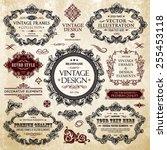 vector vintage collection ... | Shutterstock .eps vector #255453118