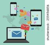sending e mails from... | Shutterstock .eps vector #255456856