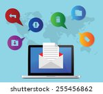e mail marketing concept | Shutterstock .eps vector #255456862