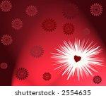 Holiday love theme background illustration design hearts romance - stock photo