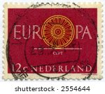 vintage postage stamp world ephemera netherlands - stock photo