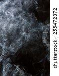 white smoke on a black... | Shutterstock . vector #255472372