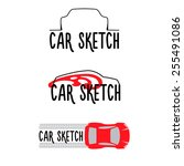 a set of sketches of... | Shutterstock .eps vector #255491086