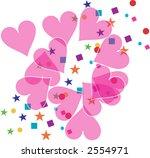 Holiday Sweethearts Confetti - stock vector