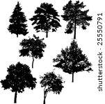 illustration with seven tree... | Shutterstock .eps vector #25550791