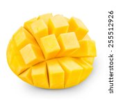 mango fruit isolated on white... | Shutterstock . vector #255512926