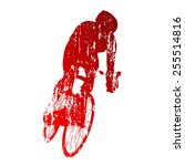 Abstract Grungy Cyclist