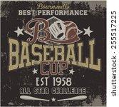 baseball   vector graphics and... | Shutterstock .eps vector #255517225