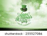 patricks day greeting against... | Shutterstock . vector #255527086