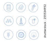 set of icons for business... | Shutterstock .eps vector #255534952