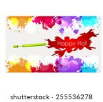 indian festival happy holi... | Shutterstock .eps vector #255536278