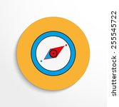 vector compass web flat icon.